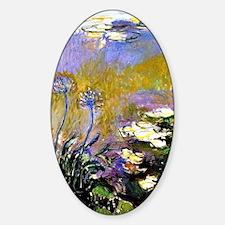 Claude Monet art: Agapanthus Decal