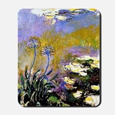 Claude Monet art: Agapanthus Mousepad