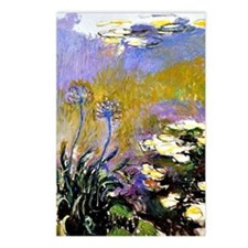 Claude Monet art: Agapant Postcards (Package of 8)