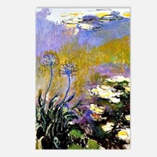 Claude Monet art: Agapant Postcards (Package of 8)