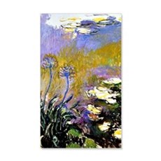 Claude Monet art: Agapanthus Wall Decal