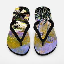 Claude Monet art: Agapanthus Flip Flops