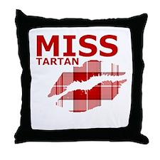Miss Tartan Kiss Throw Pillow