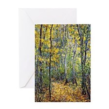 Claude Monet art: Wood Lane Greeting Card