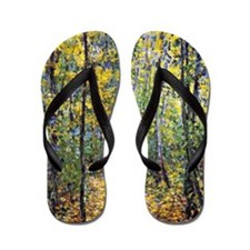 Claude Monet art: Wood Lane Flip Flops
