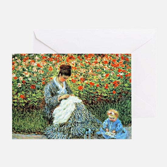 Camille Monet and Child Greeting Card