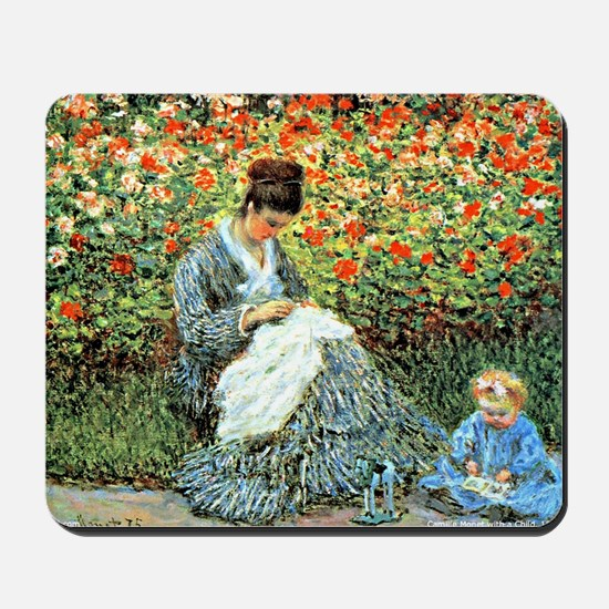 Camille Monet and Child Mousepad