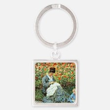 Camille Monet and Child Square Keychain