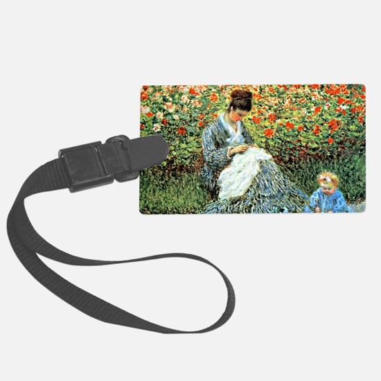 Camille Monet and Child Luggage Tag