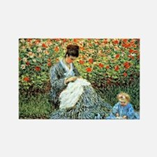Camille Monet and Child Rectangle Magnet