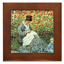 Camille Monet and Child Framed Tile