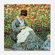 Camille Monet and Child Tile Coaster