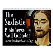 Our Sadistic Lord's 2011 Bible Verse Wall Calendar