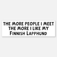 Finnish Lapphund: people I me Bumper Bumper Bumper Sticker