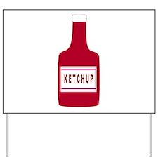Ketchup Bottle Yard Sign
