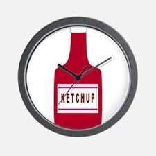 Ketchup Bottle Wall Clock