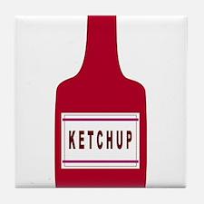 Ketchup Bottle Tile Coaster