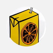 """Orange Juice Box 3.5"""" Button"""