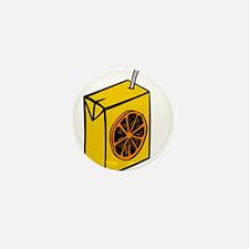 Orange Juice Box Mini Button