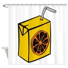 Orange Juice Box Shower Curtain