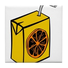 Orange Juice Box Tile Coaster