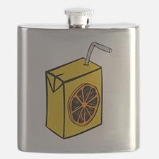 Orange Juice Box Flask