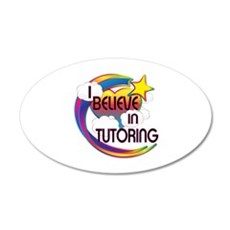 I Believe In Tutoring Cute Believer Design Wall Decal