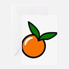 Orange Fruit Greeting Cards