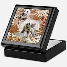 Afghan Hound Floral Keepsake Box