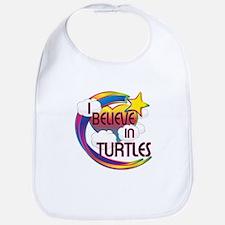 I Believe In Turtles Cute Believer Design Bib