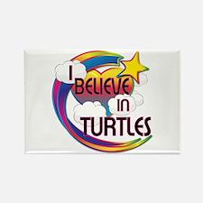 I Believe In Turtles Cute Believer Design Rectangl