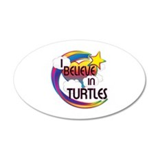 I Believe In Turtles Cute Believer Design Wall Decal