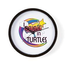 I Believe In Turtles Cute Believer Design Wall Clo