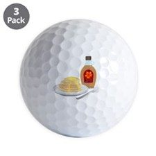 Pancakes with Syrup Breakfast Golf Ball
