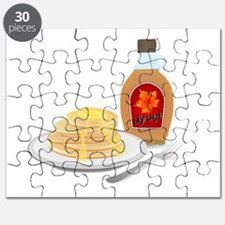 Pancakes with Syrup Breakfast Puzzle