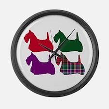 Scotty Dog Purple Large Wall Clock