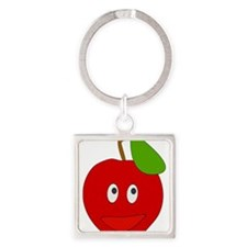 Smiling Apple Keychains