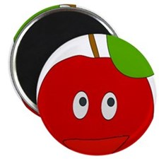 Smiling Apple Magnets
