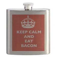 Keep Calm and Eat Bacon Flask