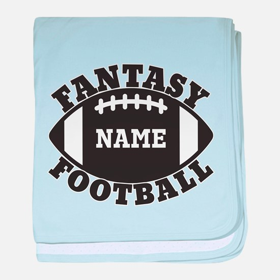 Personalized Fantasy Football baby blanket