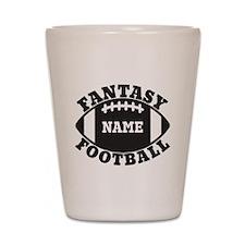 Personalized Fantasy Football Shot Glass