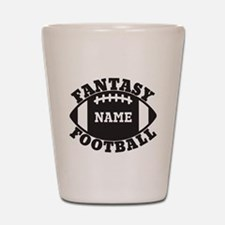 Personalized Fantasy Football Shot Glass