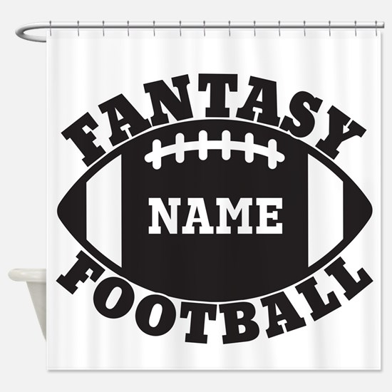 Personalized Fantasy Football Shower Curtain