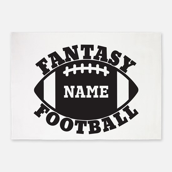 Personalized Fantasy Football 5'x7'Area Rug