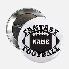 "Personalized Fantasy Football 2.25"" Button"