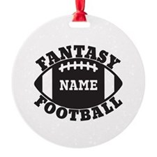 Personalized Fantasy Football Ornament