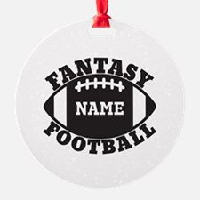 Personalized Fantasy Football Ornament