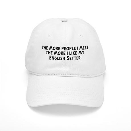 English Setter: people I meet Cap