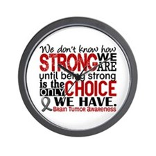 How Strong We Are Brain Tumor Wall Clock