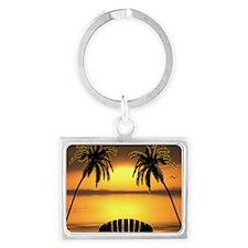 Beach Sunset Landscape Keychain